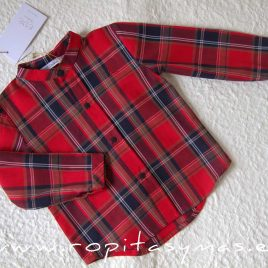 Camisa niño rojo tartán SCOTISH de EVE CHILDREN, invierno 2020