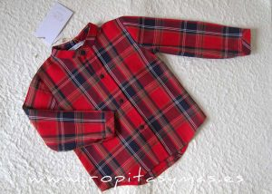 Camisa niño rojo tartán SCOTISH de EVE CHILDREN
