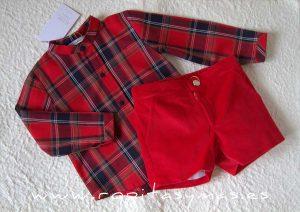 Conjunto niño rojo tartán SCOTISH de EVE CHILDREN
