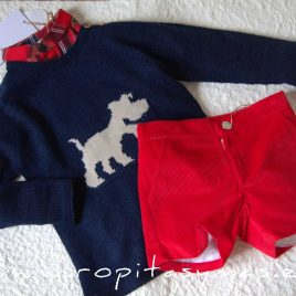 Jersey azul perrito SAILOR de EVE CHILDREN, invierno 2020