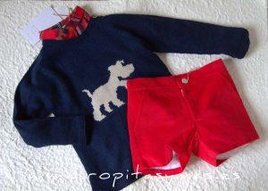 Jersey azul perrito SAILOR de EVE CHILDREN
