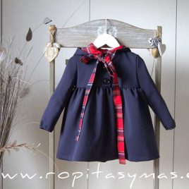 Vestido capucha marino SCOTISH de EVE CHILDREN, invierno 2020