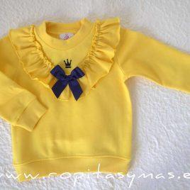Sudadera niña amarilla MAYA de EVA CASTRO, invierno 2020