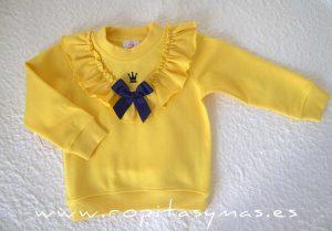 Sudadera niña amarilla MAYA de EVA CASTRO