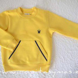 Sudadera amarilla niño MAYA de EVA CASTRO, invierno 2020