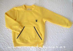 Sudadera amarilla niño MAYA de EVA CASTRO