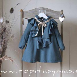 Vestido petróleo volante MOON de EVE CHILDREN, invierno 2020