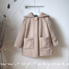 Abrigo de borreguito beige MOON de EVE CHILDREN, invierno 2020