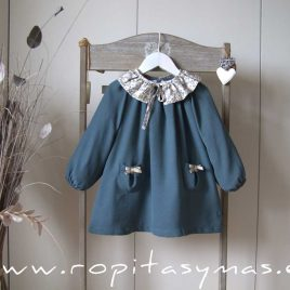 Vestido petróleo bolsillos MOON de EVE CHILDREN, invierno 2020