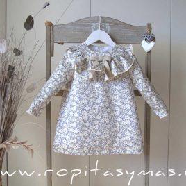 Vestido floral petróleo MOON de EVE CHILDREN, invierno 2020