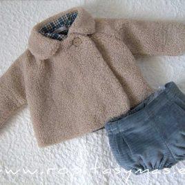 Abrigo bebé borreguito beige MOON de EVE CHILDREN, invierno 2020