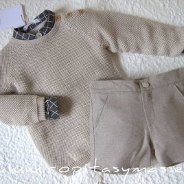 Jersey beige claro SQUARE de EVE CHILDREN, invierno 2020