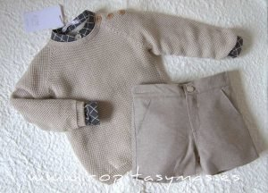 Jersey beige claro SQUARE de EVE CHILDREN
