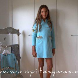 Vestido sudadera turquesa YOUNG & CHIC MARQUESA de KAULI, invierno 2020