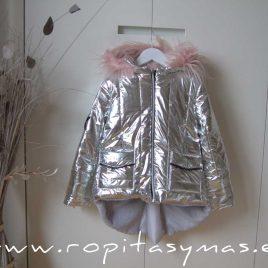 Chaquetón plata niña YOUNG&CHIC GLITTER de KAULI, invierno 2020