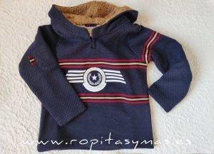 Sudadera niño azul YOUNG&CHIC TEXAS de KAULI