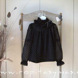 Blusa negra AMORE de KAULI, invierno 2020