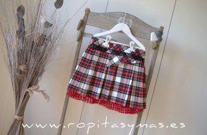 Falda roja tartán AMORE de KAULI