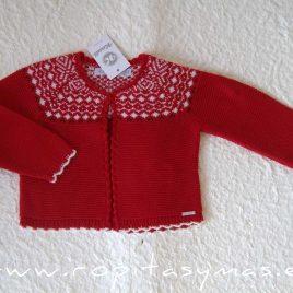 Chaqueta roja bebé AMORE de KAULI, invierno 2020