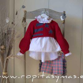 Jersey corto guinda TEXAS niña de KAULI, invierno 2020