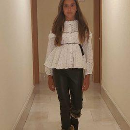 Conjunto pantalón pitillo toile de jouy AZABACHE de NOMA, invierno 2020
