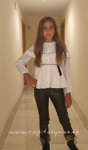 Conjunto pantalón pitillo toile de jouy AZABACHE de NOMA