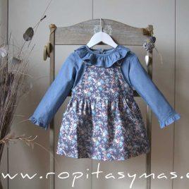 Vestido pichi azul FLORAL de ANCAR, invierno 2020