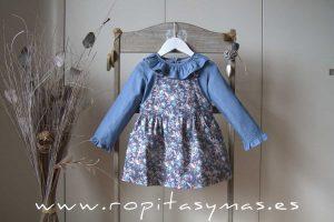 Vestido pichi azul FLORAL de ANCAR