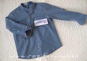 Camisa mao azul JEANS de ANCAR