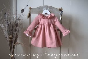Vestido rosa talle alto MOTAS de ANCAR