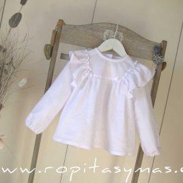 Blusa blanca volantes COTTON de MAMI MARIA, invierno 2020