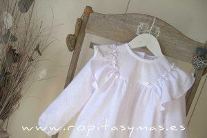 Blusa blanca volantes COTTON de MAMI MARIA