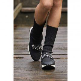 Sneakers- Calcetín Negro pedrería BELLA BIMBA, invierno 2020