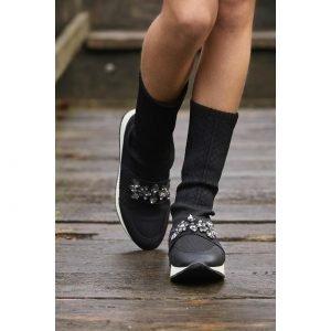 Sneakers- Calcetín Negro pedrería BELLA BIMBA