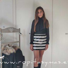 Falda negra lentejuelas ONÍS de BELLA BIMBA, invierno 2020