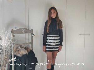 Falda negra lentejuelas ONÍS de BELLA BIMBA