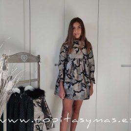 Vestido camuflaje rococó LUARCA de BELLA BIMBA, invierno 2020