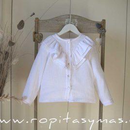 Blusa bambula blanca QUEENS de MAMI MARIA, invierno 2020