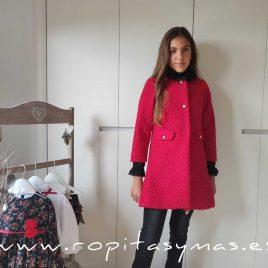 Abrigo rojo AMORE niña de KAULI, invierno 2020