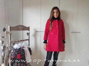 Abrigo rojo AMORE niña de KAULI
