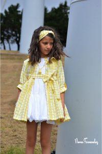 Gabardina vichy amarilla OLIVIA de NOMA