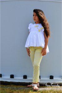 Conjunto pantalón pitillo vichy OLIVIA de NOMA