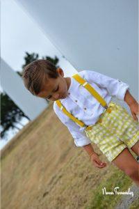 Conjunto niño short cuadro vichy OLIVIA de NOMA