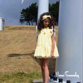 Vestido vichy amarillo OLIVIA de NOMA, verano 2021