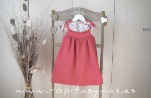 Vestido pichi FLORES rosa de ANCAR