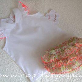 Conjunto bombacho blusa LIBERTY de LA PEPPA, verano 2021