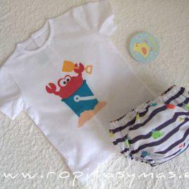 Conjunto camiseta y bombacho niño MARINERO de PIO-PIO, verano 2021
