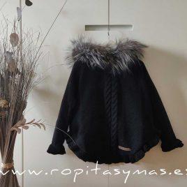 Jersey-capa negra lúrex TARAMUNDI de BELLA BIMBA, invierno 2020