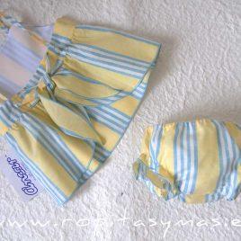 Jesusito amarillo RAYAS azules de ANCAR, verano 2021