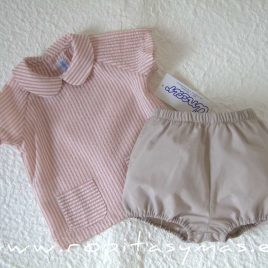 Camisa bebe RAYAS rosas de ANCAR, verano 2021